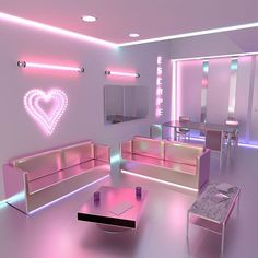 Pink room, cute bedroom ideas, awesome bedrooms, aesthetic rooms, p Cute Bedroom Ideas, Cute Room Decor, Girl Bedroom Designs, Awesome Bedrooms, Cool Rooms, Nail Salon Decor, Beauty Salon Decor, Beauty Salon Interior, Neon Bedroom