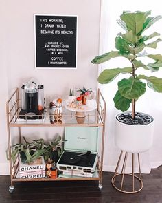 """Obtain terrific pointers on """"bar cart decor inspiration"""". They are accessible for you on our website. Home Bar Decor, Bar Cart Decor, Cheap Home Decor, Ikea Bar Cart, Diy Bar Cart, Gold Bar Cart, Bar Carts, Decoration Inspiration, Room Inspiration"""