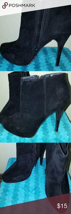 🔥DEAL OF THE DAY🔥 Sleek Black Booties Black Booties / Ankle Boots Shoes Ankle Boots & Booties