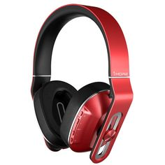 726ce1062a3 Bluetooth Wireless Over-Ear Headphones with Apple iOS & Android Compatible  Microphone & Remote Red For Sale