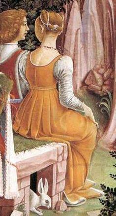 Allegory of April, Triumph of Venus , 1476-84, Palazzo Schifanoia, Ferrara2-1