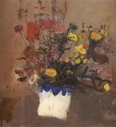 Still life of mixed flowers by Joan Eardley ~ Garden Painting, Painting & Drawing, Plant Drawing, Art Floral, Abstract Landscape, Landscape Paintings, Flower Paintings, Glasgow, Artist Art