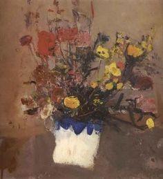 Joan Eardley, oil on canvas