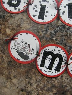 101 dalmation birthday banner by ParkersMommy17 on Etsy, $27.00