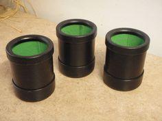 "Yahtzee Dice Cups 3 Vintage 3"" Gaming Die Shaker Cup Lot of 3 Game Parts Black"