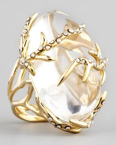 Vine Ring, Clear #clear #ring www.loveitsomuch.com