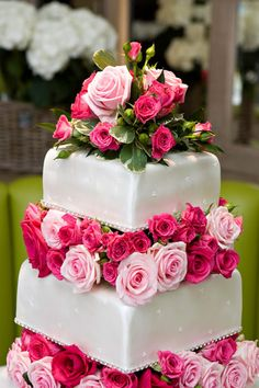wedding cake with natural flowers - Google Search