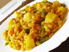 Arroz amarillo con patata - http://www.monstruorecetas.es/2014/03/arrozamarillopatata.html