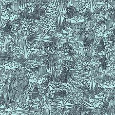 Cotton Lawn Green Wall in Aqua by Carolyn Friedlander Fabric Cotton Lawn Fabric Robert Kaufman Voile Aqua and Navy Lawn Apparel Fabric by Owlanddrum on Etsy