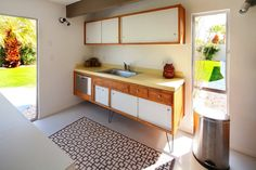 the most adorable little kitchen in the world. 1950s, plywood, laminate, perforated