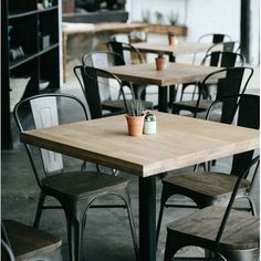 4 Awesome Cool Ideas: Simple Industrial Cafe industrial modern home. Rustic Coffee Shop, Rustic Cafe, Coffee Shop Design, Coffee Shops, Coffee Shop Counter, Rustic Bench, Kitchen Rustic, Rustic Cottage, Rustic Shelves