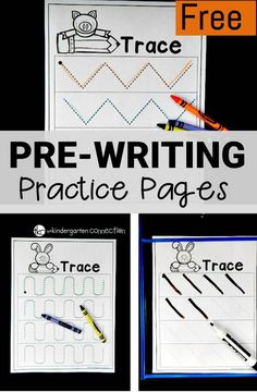 Get ready to write with these free pre-writing worksheets! They are perfect for beginning writers to practice common strokes found in letters. #writingactivities #prewriting #freeprintables