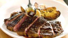 Нью-йоркский стейк с картофелем  и  грибами -  -   рецепт Гордона Рамзи