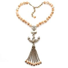 "Heidi Daus ""Go Overboard"" Mother-of-Pearl Drop Necklace"