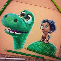 "370 Likes, 1 Comments - ilse (@art_fashion_painting) on Instagram: ""Who have seen the movie?? Made by @smithead123 •••••••••••••••••••••••••••••For more art Follow my…"" the good dinosaur"