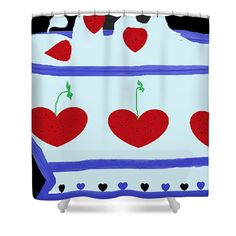Strawberries And Cream Shower Curtain by Vevine Goldson. This shower curtain is made from polyester fabric and includes 12 holes at the top of the curtain for simple hanging. Classic Caesar Salad, Strawberries And Cream, Great Artists, Fine Art America, Beautiful Things, Greeting Cards, Reusable Tote Bags, Tapestry, Art Prints