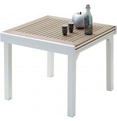 Salon de jardin: Table OCEAN + 6 fauteuils ARUBA coloris taupe