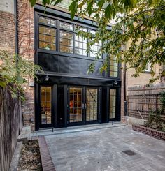 Rear facade in Brooklyn townhouse renovation.  Ben Herzog, Architect.