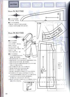 Выкройки из японских журналов для куклы Блайз. Часть 4 из 5. В подборку попало несколько выкроек неизвестной для меня куклы