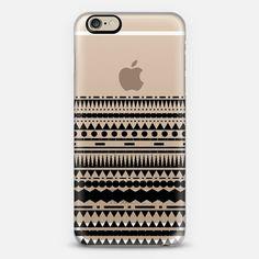 Black Modern Aztec Partial Transparent iPhone 6 case by Organic Saturation | Casetify
