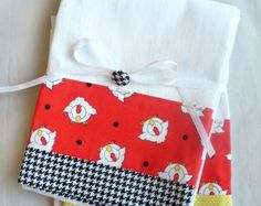 Kitchen towels Cherries set of two flour by SeamlessExpressions