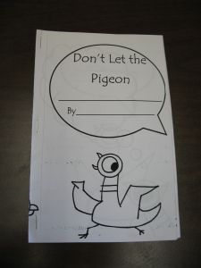 make your own pigeon book. I absolutely have to let my class do this. They love the book so much they cry when it's checked out of the library!