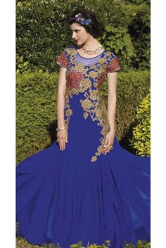 Buy Designer Net Embroidery Work Gown In AngelNX. Zari And Stone Work Wedding Gown, Buy latest stylish salwar kameez suit online shop for indian wedding long gowns to look like a true fashionable diva. Bridal Lehenga, Bridal Gowns, Gown Wedding, Stylish Gown, Fancy Gowns, Anarkali Dress, Long Anarkali, Anarkali Suits, Chiffon Gown