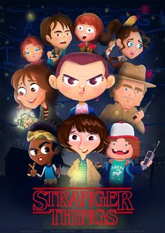 """Check out this @Behance project: """"Stranger Things: Character Design &…"""