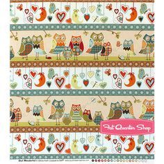 Owl Wonderful Multi Repeating Stripe Yardage SKU# 28623-124S - Fat Quarter Shop