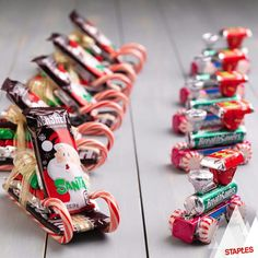 Candy sleighs and trains