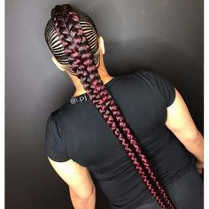 New Braided Hairstyles Hi dearies, it is time to change your hairstyle and look. May be you feel bored with the kind of braids hairstyles you've tried in the past. Now we have the new braided hairstyles 2018 to bring smile Box Braids Hairstyles, New Braided Hairstyles, My Hairstyle, Braided Ponytail, Girl Hairstyles, Hairstyles 2018, Trendy Hairstyles, Black Girl Braids, Braids For Black Hair