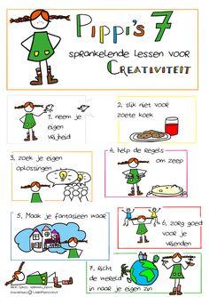Pippi's 7 sprankelende lessen voor creativiteit - illustratie Laura Peetoom op de website van www.verhaallijnen.nl Cool Words, Wise Words, Round Robin, Environmental Psychology, Growth Mindset Quotes, Pippi Longstocking, Creativity Quotes, Old Quotes, Yoga For Kids
