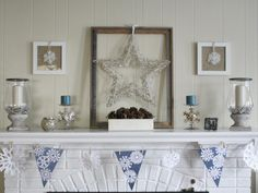 Decorate fireplace mantels that last beyond the holidays by focusing on traditional winter colors, flowers and motifs on HGTV.com.