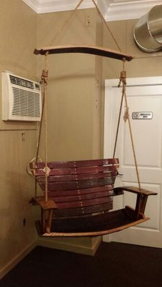 Hedgehog Designs in Amesbury, MA has this sweet swing made of wine barrels! Diy Furniture Decor, Pallet Furniture, Barrel Projects, Wood Projects, Wine Barrel Diy, Barrel Coffee Table, Wine Barrel Furniture, Bourbon Barrel, Whiskey Barrels