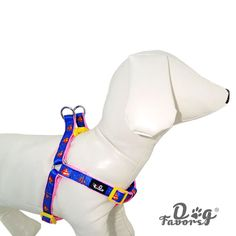 The new face with a light blue nylon puppy cute dog harness traction rope