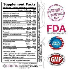 Kerotin Hair Growth Vitamins - 6 Bottles - 50% Off + Free Shipping