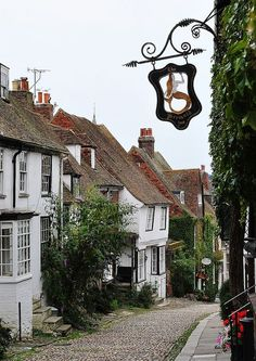 England Travel Inspiration - Rye, Mermaid Street, East Sussex, England.
