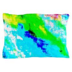 Glitchin Teal Pillow Case on CafePress.com