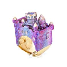 Amethyst Castle Ring , now featured on Fab. Gems Jewelry, Cute Jewelry, Jewelry Box, Jewelry Accessories, Unique Jewelry, Jewellery, Grunge, Fairytale Fashion, Dragon Jewelry
