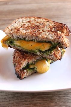 Kale pesto grilled cheese