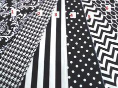 Black and white table runner, polka dot runner, chevron runner, houndstooth tablecloth by HomeMakings on Etsy https://www.etsy.com/listing/193038426/black-and-white-table-runner-polka-dot