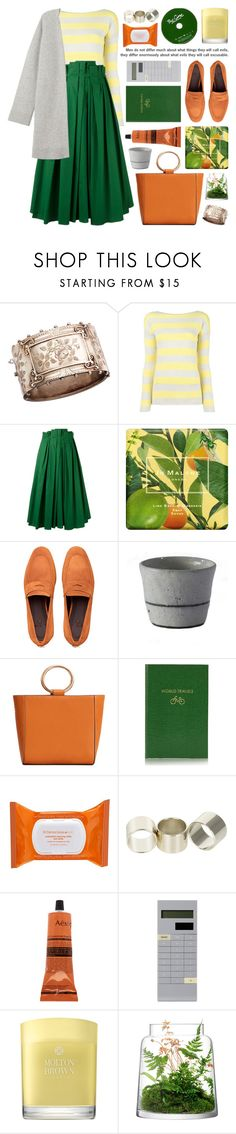 """""""full pleated midi skirt"""" by jesuisunlapin ❤ liked on Polyvore featuring Olivia Collings Antique Jewelry, Etro, Rochas, Jo Malone, Bougeotte, MANGO, Sloane Stationery, Dr. Dennis Gross Skincare, Neon Hart and Aesop"""