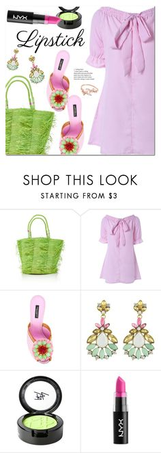 """""""Pucker Up: Spring Lips"""" by ansev ❤ liked on Polyvore featuring Sensi Studio, Dolce&Gabbana, Beauty Is Life and NYX"""