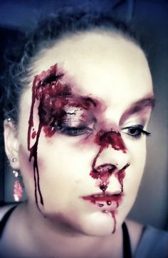 Beat up. #makeup #halloweenmakeup