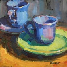 Cathleen Rehfeld Gallery of Original Fine Art Painting Lessons, Art Lessons, Painting & Drawing, Painting Still Life, Still Life Art, Cafe Art, Wow Art, Pottery Painting, Beautiful Paintings
