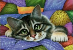 Irina Garmashova Cat Russian modern Rare new postcard