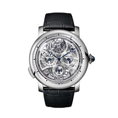 Rotonde de Cartier Grande Complication skeleton watch 45 mm, automatic movement, platinum, alligator REF: W1556251 ($175,909)