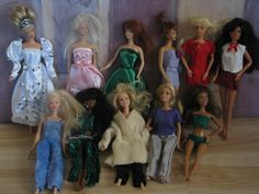 15 pc One Of A Kind (OOAK) Barbie Wardrobe set 4 - Custom, Handmade