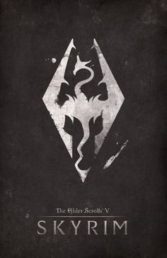 The Elder Scrolls: Skyrim Poster - Created by Dylan West These posters are available at the Dylan Etsy Shop. Elder Scrolls V Skyrim, The Elder Scrolls, Elder Scrolls Online, Video Game Logos, Video Game Posters, Video Game Art, Video Games, Hand Logo, Geeks