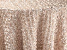 Champagne Corsage Table Linen | BBJ Linen  #tablescape #bbjlinen #bbjtablefashions #inspiration #wedding #new #newproducts